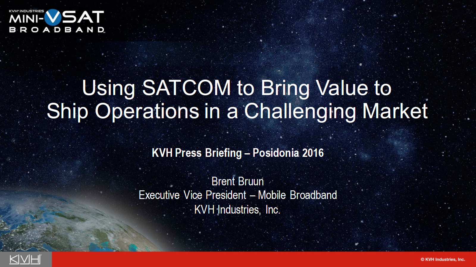 Using SATCOM to Bring Value to Ship Operations