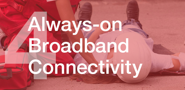 Always-on broadband connectivity